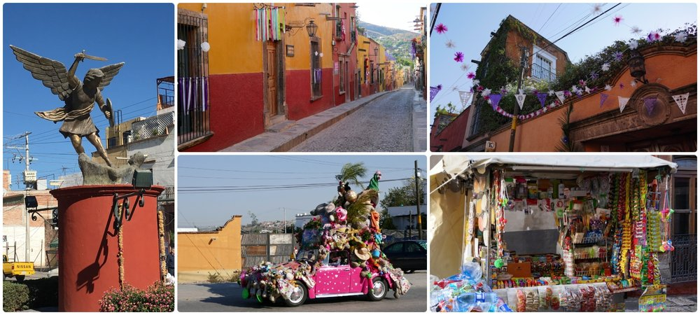 On our walk from the bus terminal to our house sit we were able to explore a small part of San Miguel de Allende, Mexico. From the Spanish Colonial architecture to the crazy car, we loved it all!