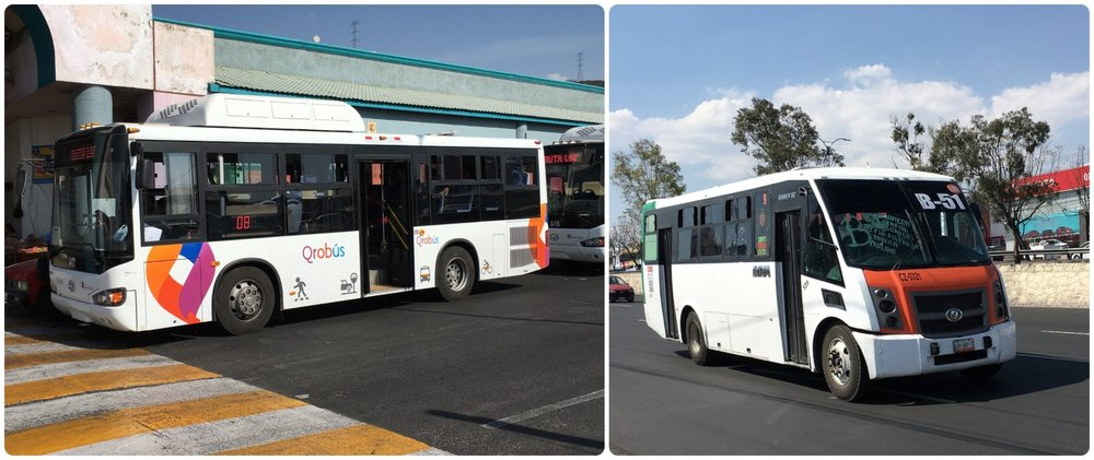 The age of buses in Santiago de Queretaro, Mexico vary dramatically, but that's part of the experience after all!