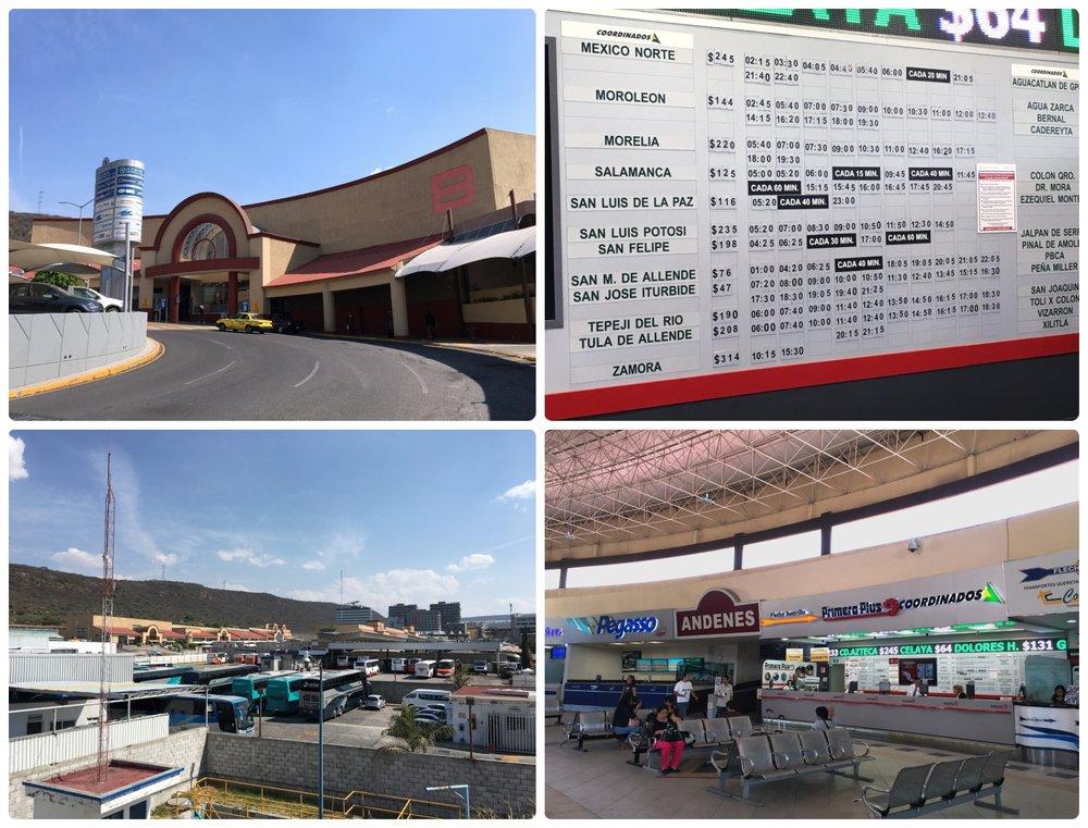 Terminal de Autobuses de Santiago de Querétaro in Mexico.