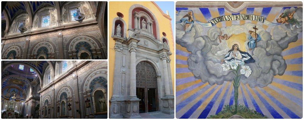 Templo De La Merced Queretaro in Santiago de Queretaro, Mexico.