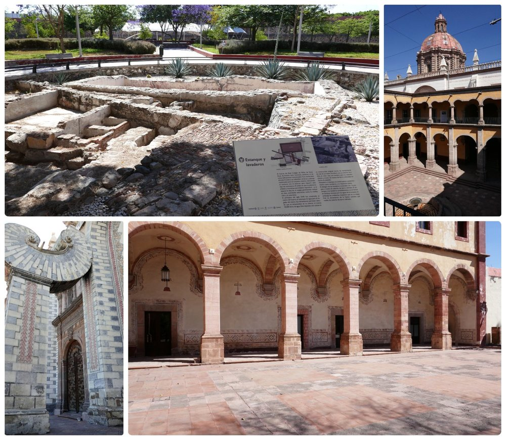 Templo de Santa Rosa de Viterbo and the Center of Arts of Queretaro (CEART) in Santiago de Queretaro, Mexico. The building, gardens, and ruins warrant a visit in and of themselves, but there's also great art exhibitions!