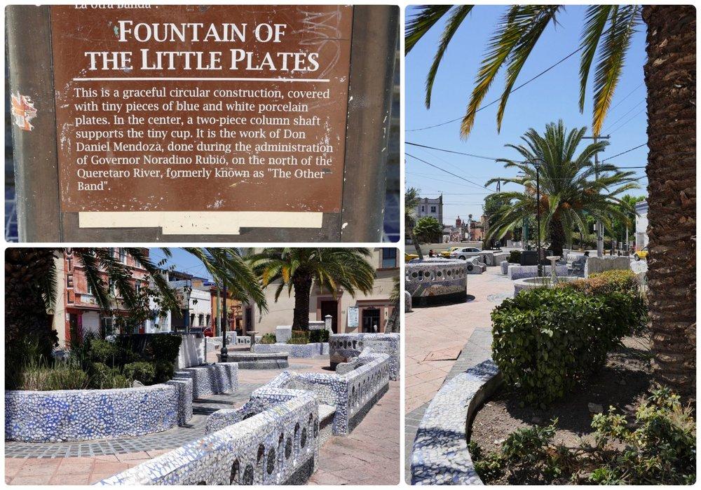 Jardin de los Platitos (Garden of the Little Plates) in Santiago de Queretaro, Mexico.