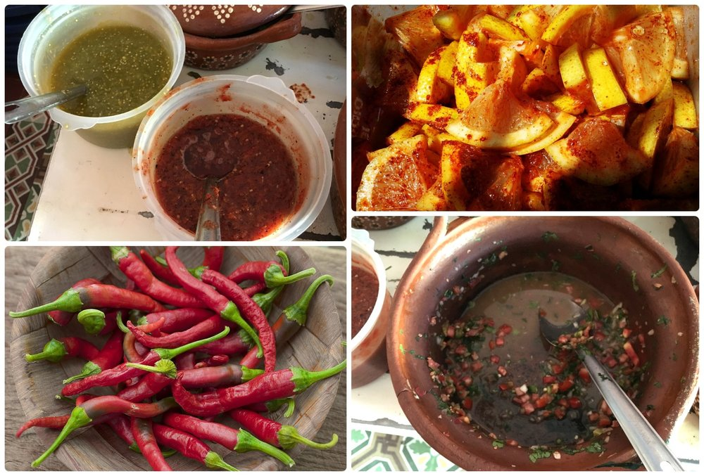 Traditionally Mexican food is accompanied with salsa or chili... even fruit!