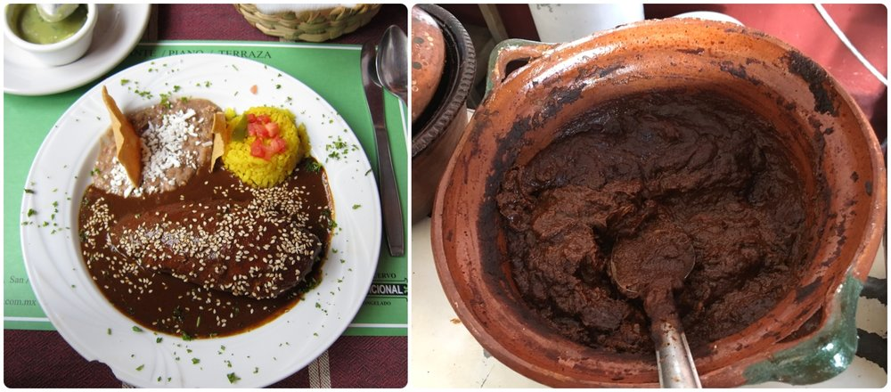 Mole is a traditional Mexican sauce.  (Left  image credit )