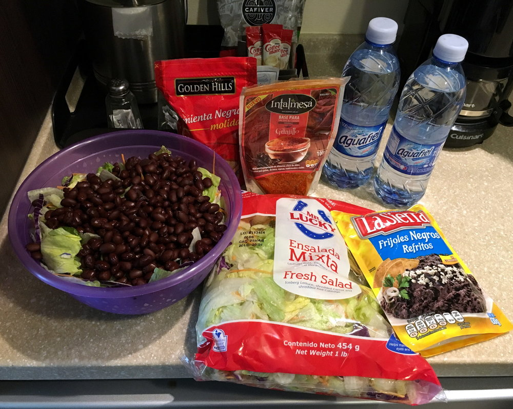 hotel hacks healthy eating hotel food grocery shopping budget inexpensive cheap no cook
