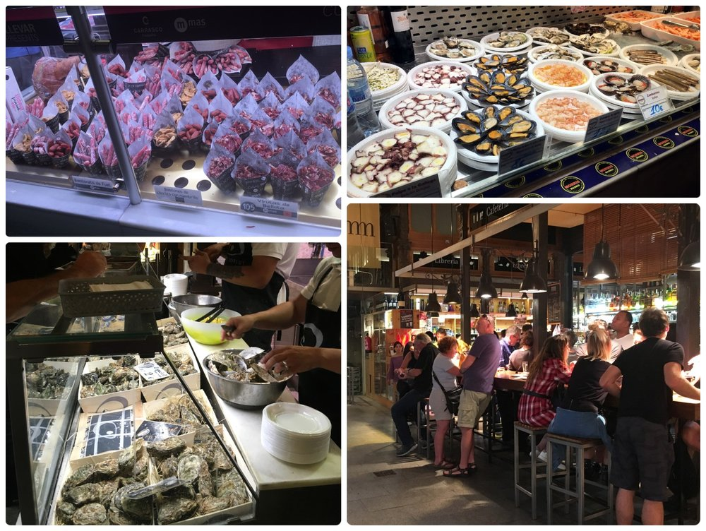 Spain madrid Tapas Raciones Siestas late dinner night restaurant market cafe