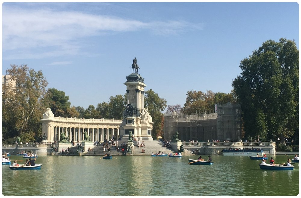 Monument to Alfonso XII in El Retiro Park, Madrid, Spain.