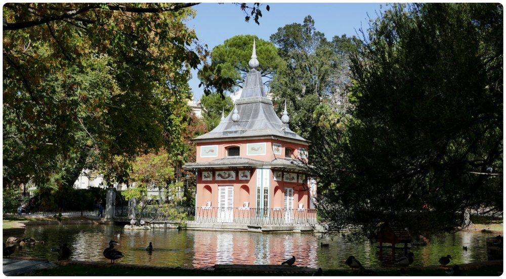 Casita del Pescador in Retiro Park, Madrid, Spain.