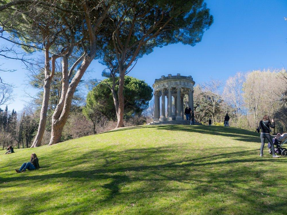 Folly Park (Parque El Capricho) in Madrid, Spain.