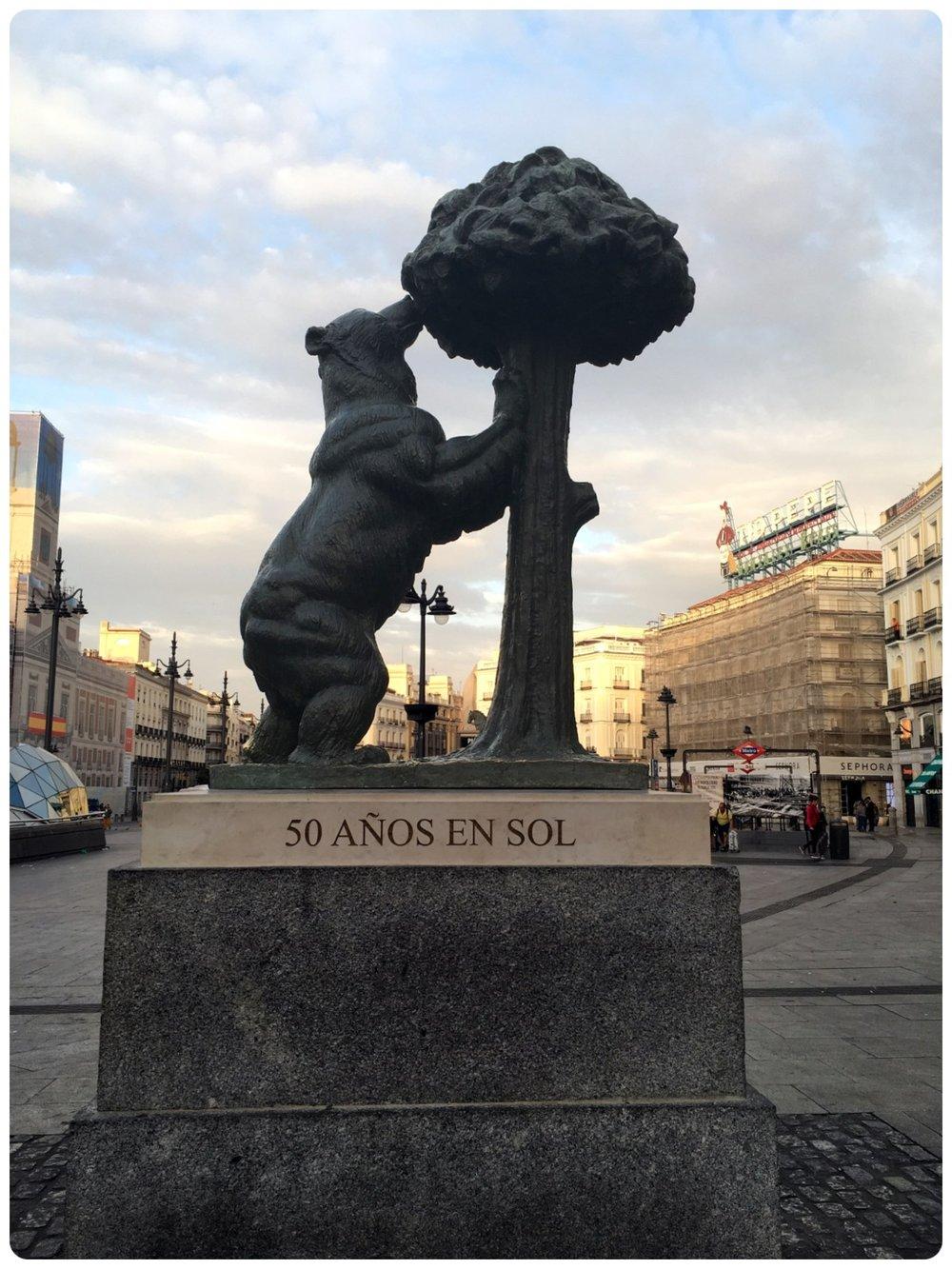 El Oso y El Madroño (the city symbol) in Madrid, Spain.