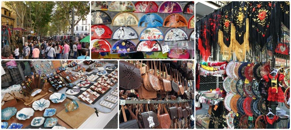 El Rastro Flea market in Madrid, Spain.