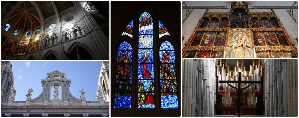 Almudena Cathedral (Santa María la Real de La Almudena) in Madrid, Spain.