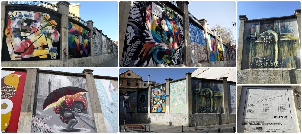 Muros Tabacalera in Madrid, Spain.