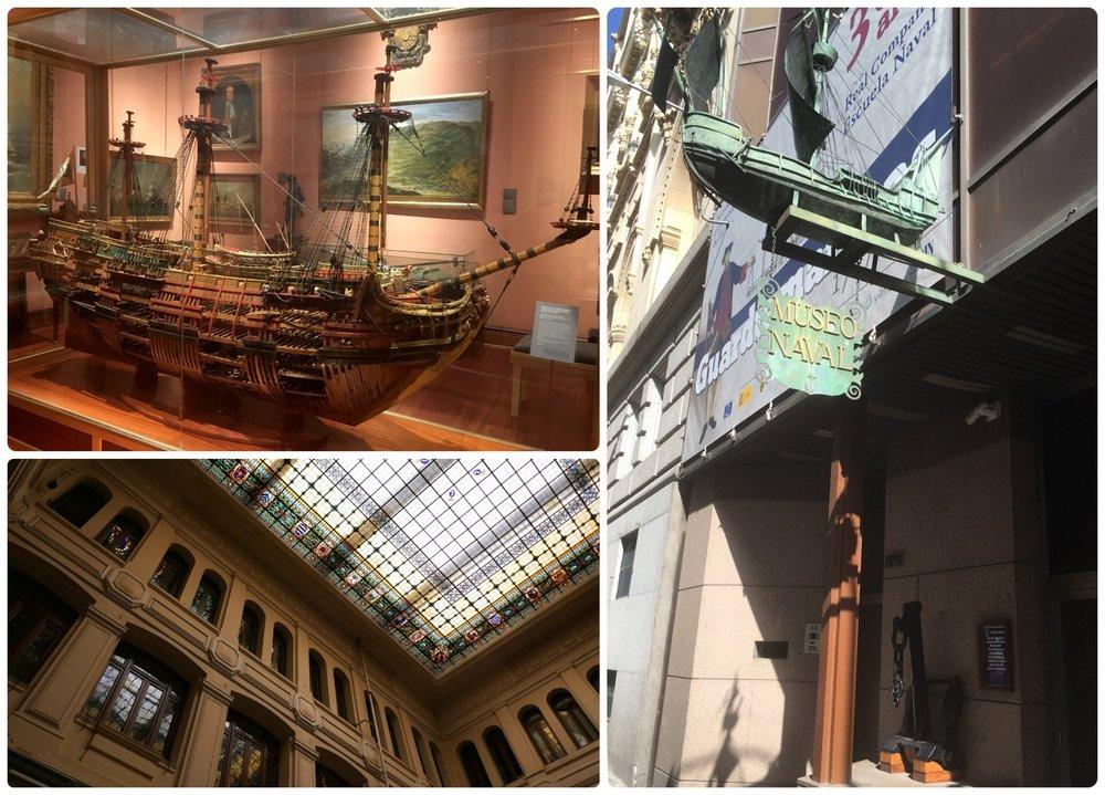 Maritime Museum (Museo Naval) in Madrid, Spain.