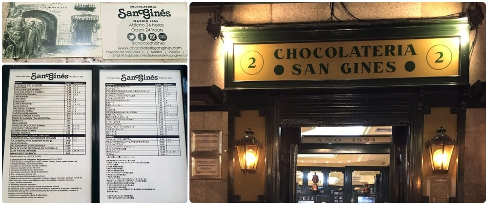 Chocolateria San Gines has been serving traditional Spanish churros, porras, and hot chooclate for over 125 years!