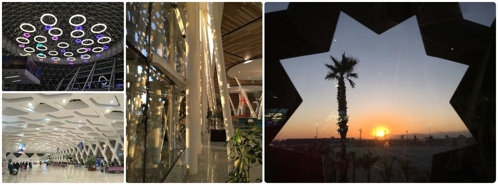Marrakech Menara Airport MAK interior architecture departures inside colorful modern
