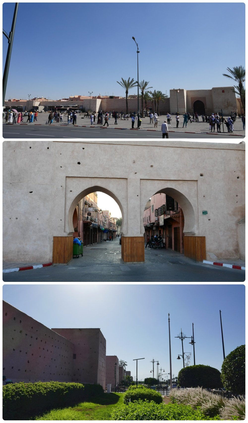 The Medina (Old Town) Marrakech is enclosed by walls and can be entered through many different gates.