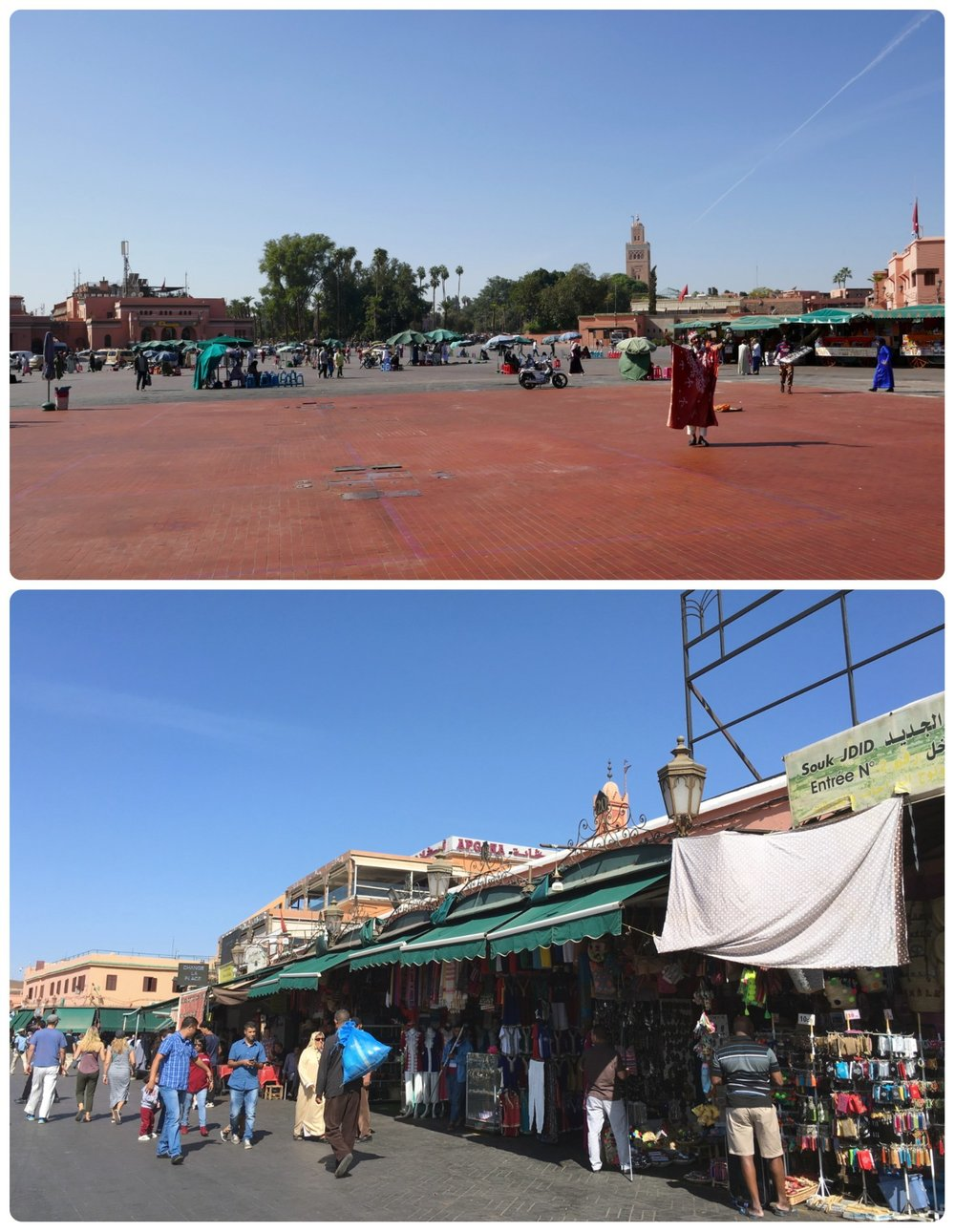 Jemaa el Fna Square in the Medina (Old Town), Marrakech, Morocco.