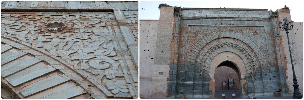 Bab Agnaou was the royal entrance to the Medina in Marrakech, Morocco.