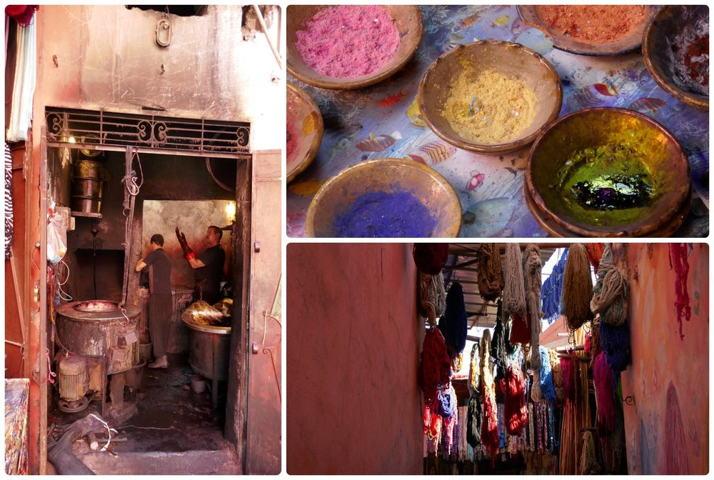Souk des Teinturiers – The dyers' souk in the Medina (Old Town), Marrakech, Morocco.