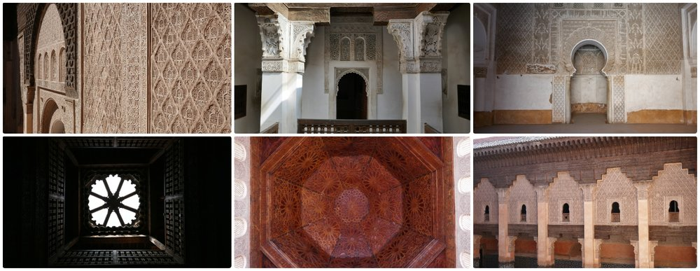 The Son of Joseph School - Ben Youssef Madrasa in the Medina (Old Town), Marrakech, Morocco.