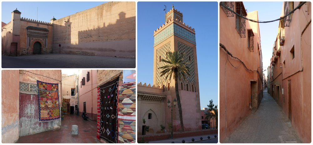 The Medina in Marrakech, Morocco is the walled Old Town that's historically Arabic.
