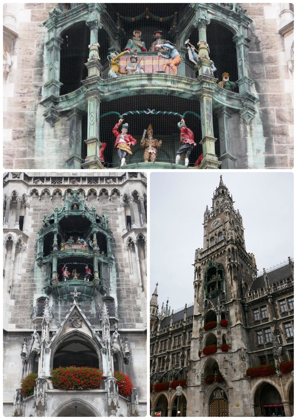 Glockenspiel can be seen in Marenplatz on the Rauthaus building, located in city center Munich, Germany.