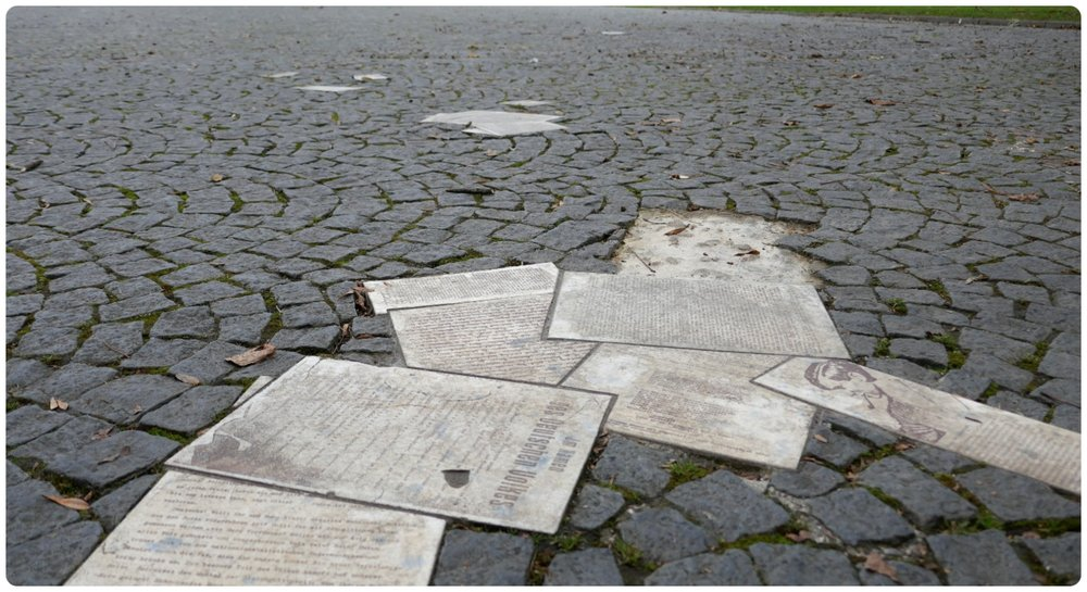 Weiße Rose Pavement Memorial in Munich, Germany is a creative and touching memorial.