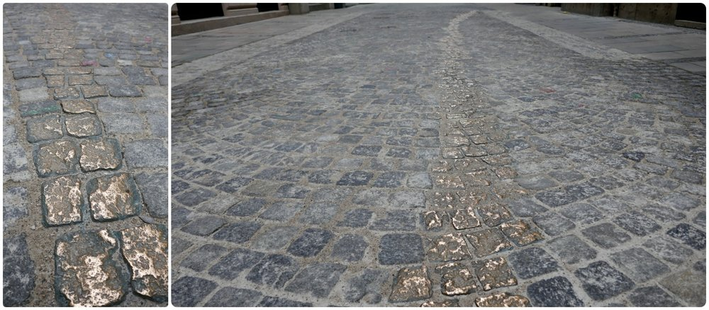Viscardigasse and Shirkers' Alley in Munich, Germany is now a thoughtful and touching remembrance to those who refused to salute the Nazi soldiers.