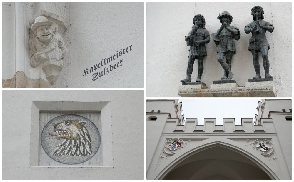 Don't miss the up-close detail of Karlstor (Karl's Gate), which is a remaining portion of Munich, Germany's medieval fortification wall.