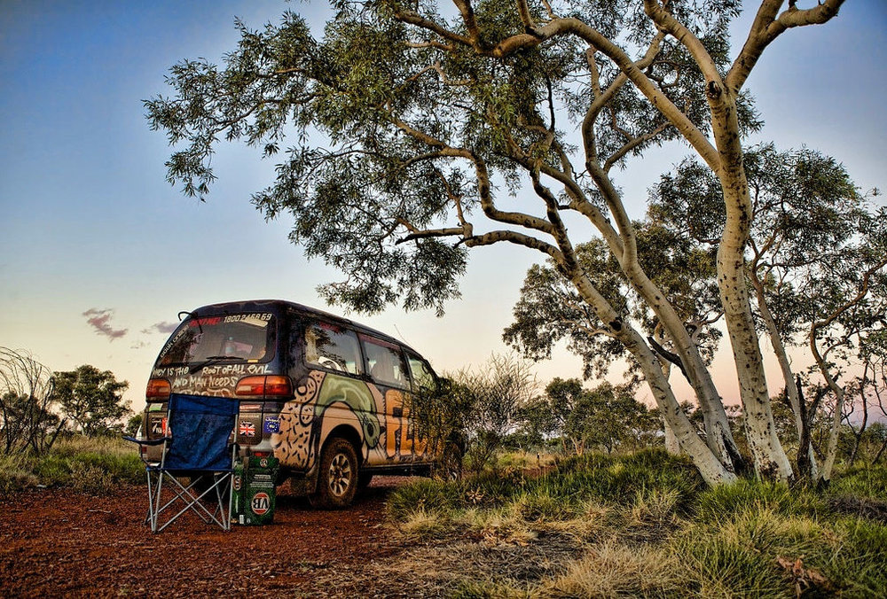 A Wicked Camper in Ashburton, Western Australia, Australia | Source  flickr