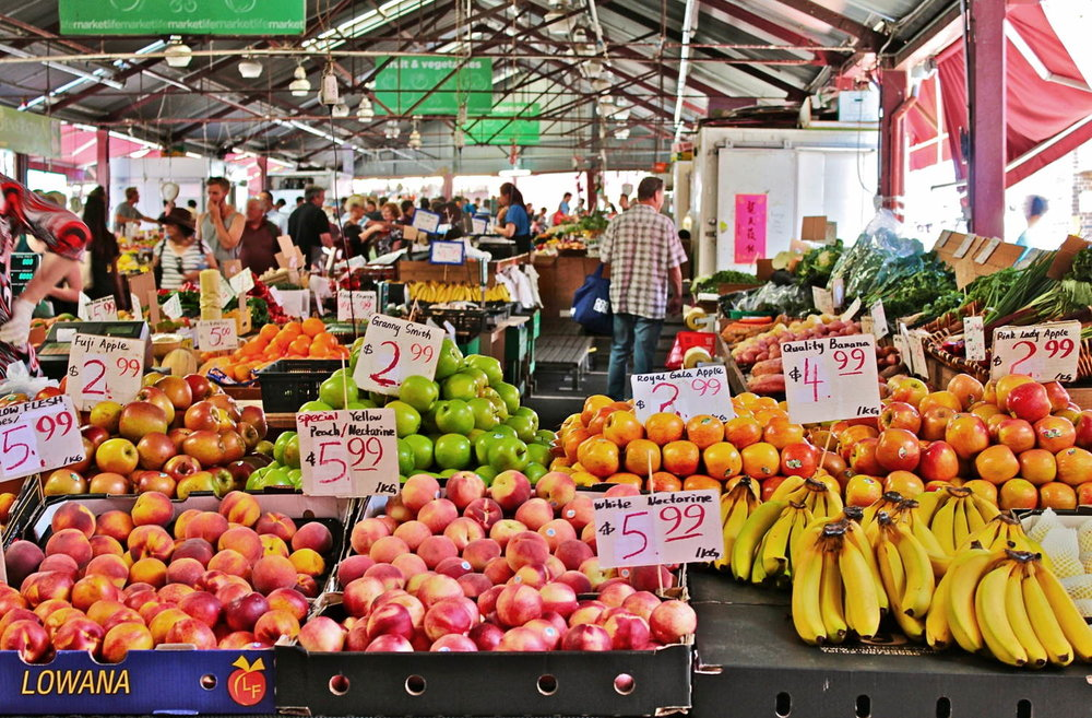 A market in Melbourne, Australia.