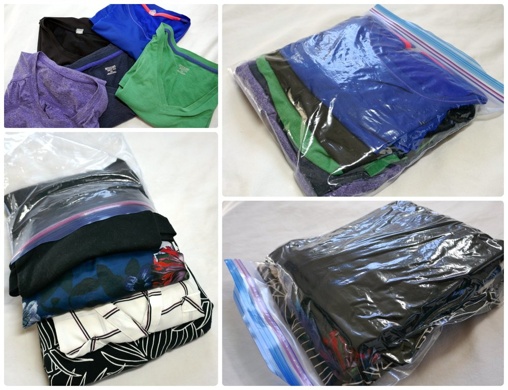 Packing cubes (including our  DIY packing cubes ) are a great way to segment and organize your travel bag!