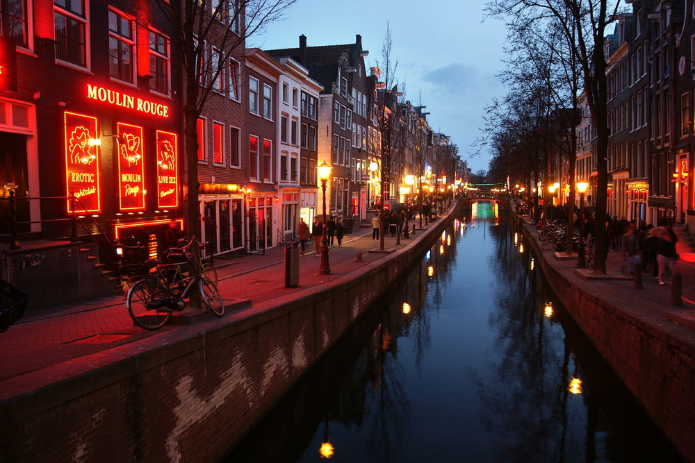 The famous Red Light District in Amsterdam, Netherland.