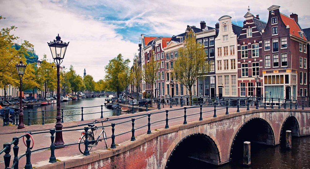 Planes, Trains, and Bikes in Amsterdam -