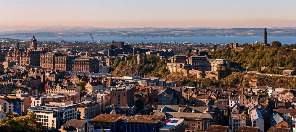 Skyline view of Edinburgh, Scotland, United Kingdom.