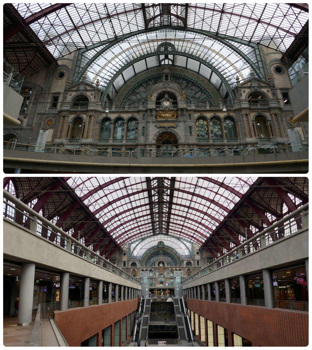Station Antwerpen-Centraal in Antwerp, Belgium.