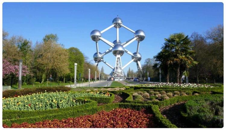 Atomium in Brussels, Belgium.