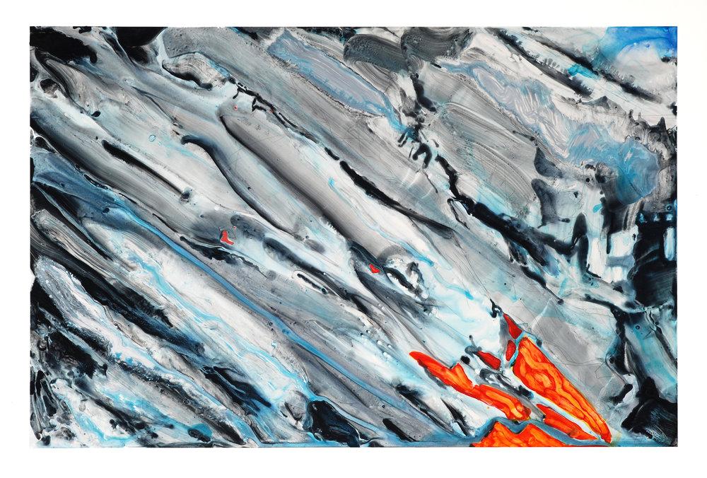 "acrylic on paper, 26""x40"", 2013"