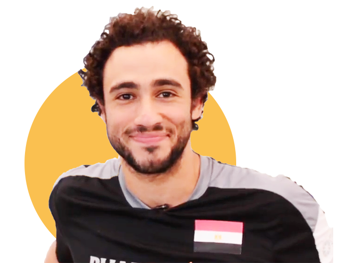 Ramy Ashour trains at the New York Athletic Club.