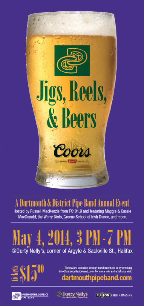 4th Annual Jigs Reels and Beers Poster