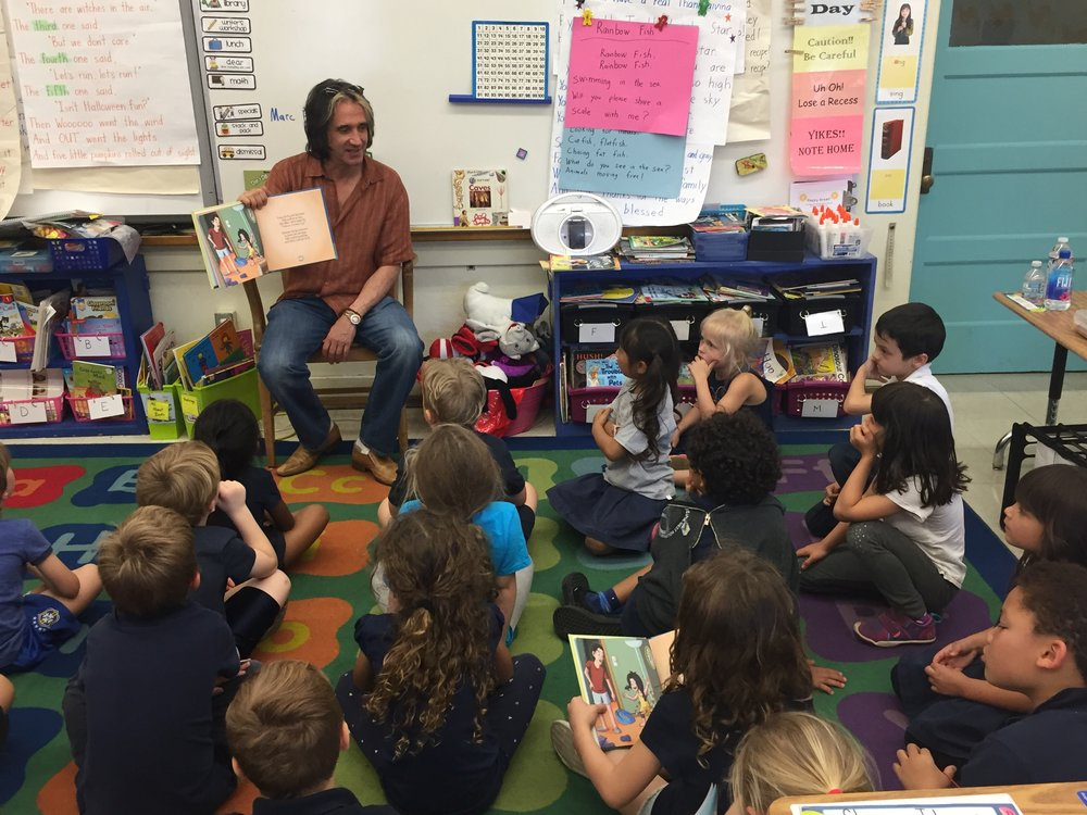 Reading to kids at school
