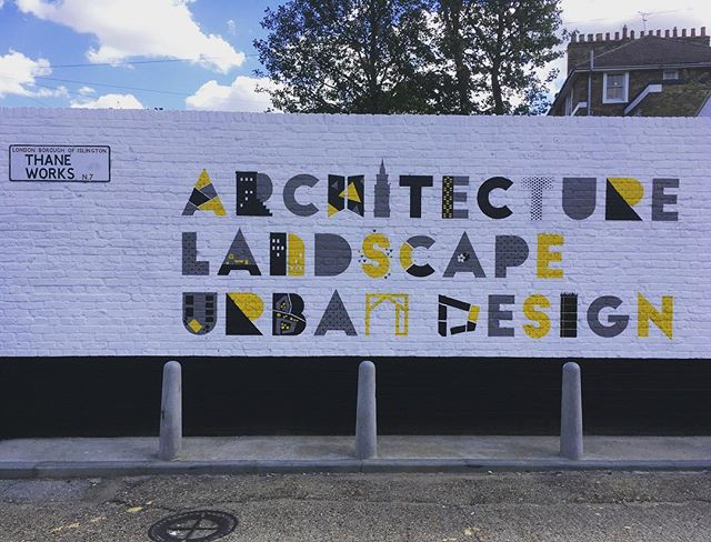 We have some new neighbours and I am guessing they are architects, great mural. Welcome to the area @levitt_bernstein it seems that seven sisters road is quickly becoming the new Old Street! ————- #londonarchitecture #architecture #mural  #finsburypark