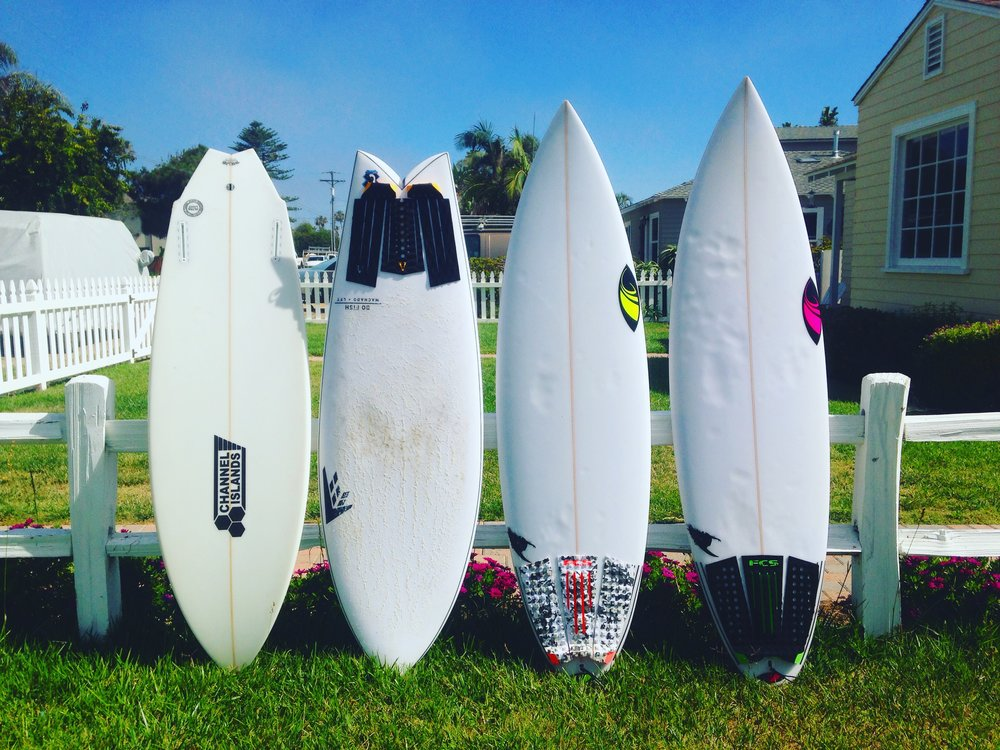 Tommy's 4 Board Hossegor Quiver
