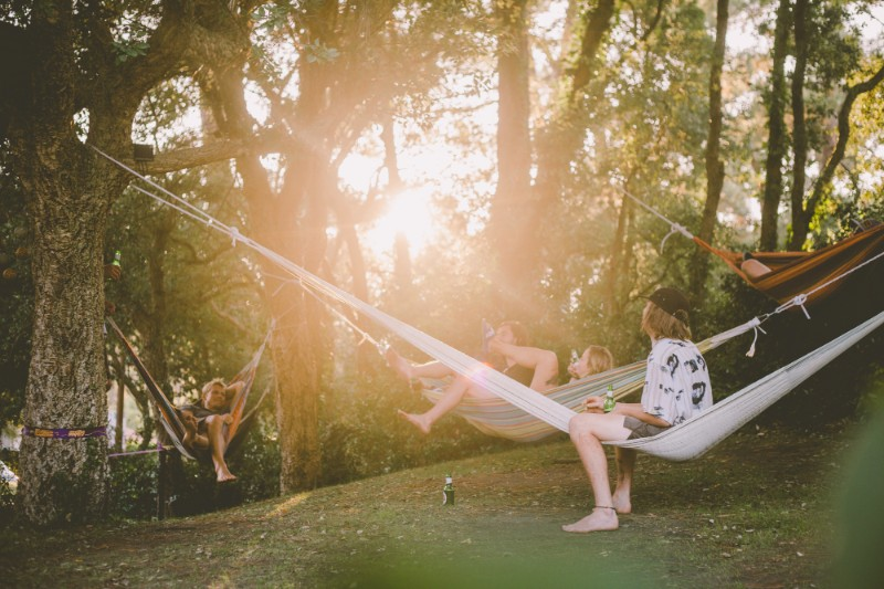 Chill time in hammocks