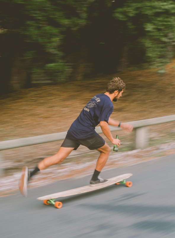 Long boarding to the surf house