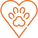 Paw Print by Laurène Smith from the Noun Project