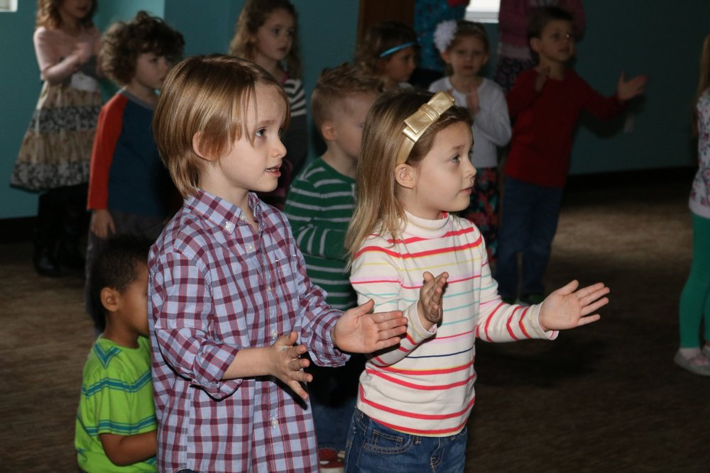 Preschool - WeeRock - 9:15am in the Lodge WeeRock is Preschool Worship at its finest. Led by the amazing Mrs. Kara, our preschoolers spend the morning praising God through Bible stories, songs, and games. They learn the importance of loving and helping each other the way that God loves and helps us.