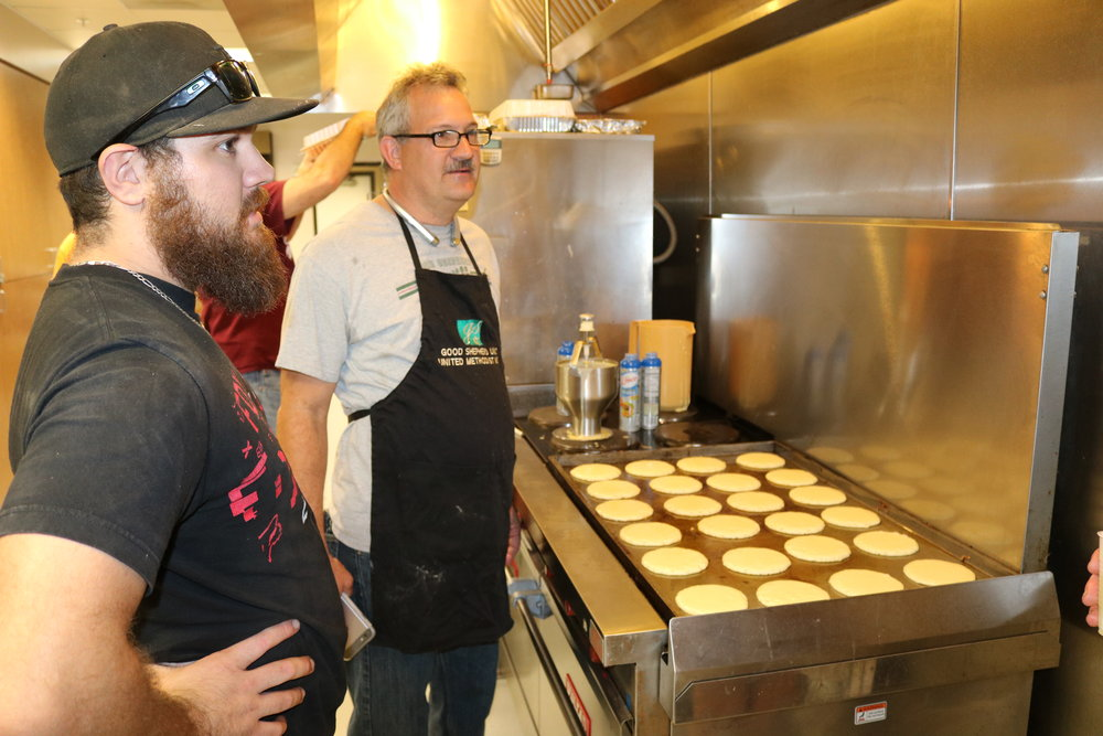 Event Service - UMM lends their support to special events, like the Shrove Tuesday pancake supper, helping them to become annual favorites in church life.