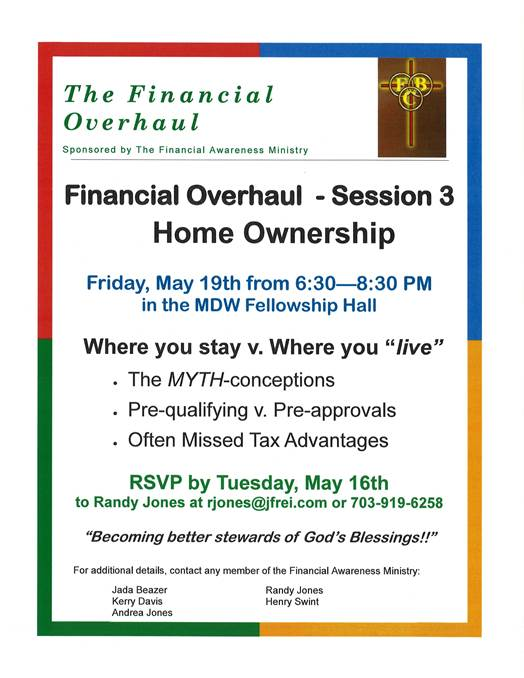 financial Overhaul - Session 3